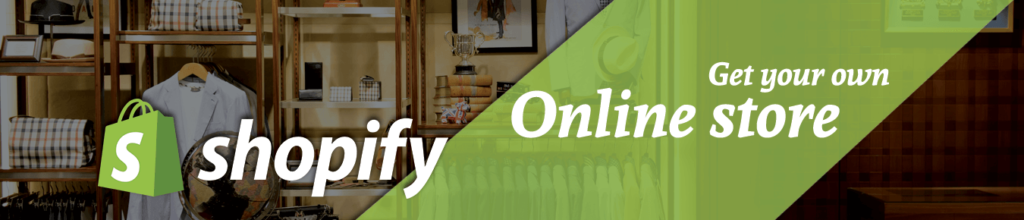 Banner image of Shopify which is online store